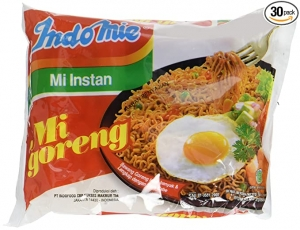 ihocon: Indomie Mi Goreng Instant Stir Fry Noodles, Halal Certified, Original Flavor, 3 oz, Pack of 30 印尼即食炒麵