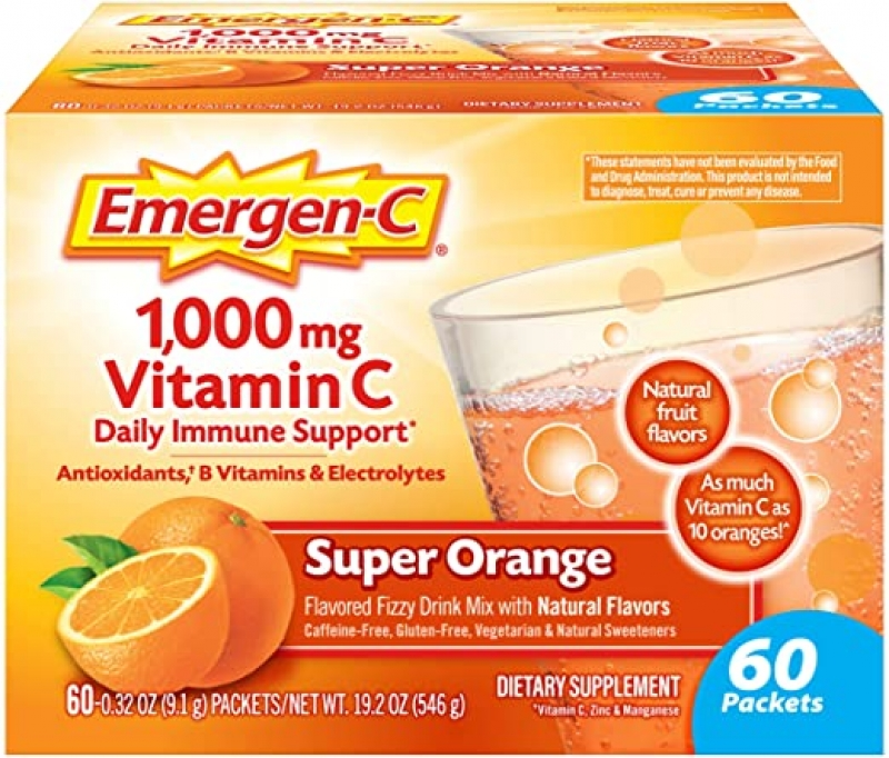 ihocon: Emergen-C 1000mg Vitamin C Powder, 60 Count維他命C沖泡粉