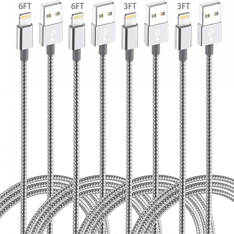 ihocon: IDiSON (6ft 6ft 3ft 3ft) Apple MFi Certified Lightning Cable, 4Pack(6/6/3/3ft) 充電線