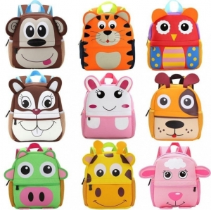 ihocon: Canis Cute Kid Toddler Backpack Kindergarten Schoolbag 3D Cartoon Animal Bag 幼兒背包一個