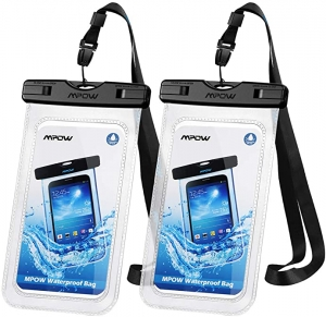 ihocon: Mpow IPX8 Waterproof Phone Pouch (2 Pack)防水手機袋