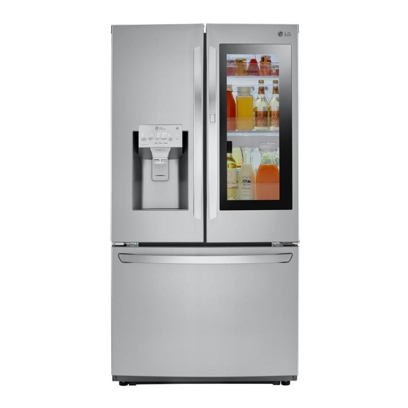 ihocon: LG Electronics 26 cu. ft. 3-Door French Door Smart Refrigerator with InstaView Door-in-Door in Stainless Steel 不銹鋼法式門智能冰箱