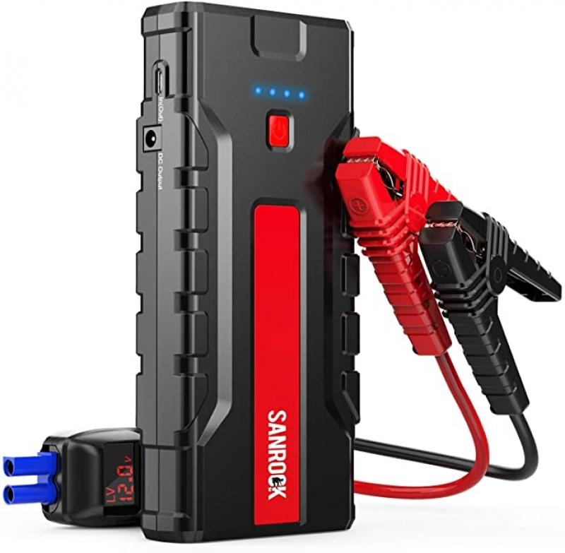 ihocon: SANROCK Portable Jump Starter for Car 1800A Peak 18000mAh (up to 8.0L Gas/6.5L Diesel) 汽車起動行動電源