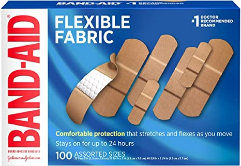 ihocon: Band-Aid Brand Flexible Fabric Adhesive Bandages 100 Ct 創可貼/OK繃