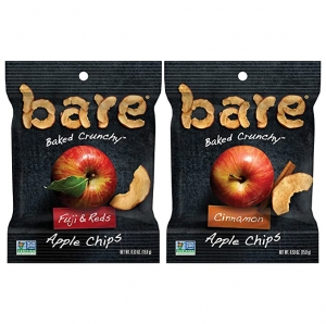 ihocon: Bare Natural Apple Chips, Snack Size Variety Pack, Gluten Free + Baked, 0.53 Oz (24 Count) 天然蘋果乾