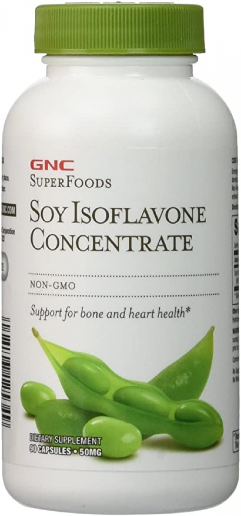 ihocon: GNC SuperFoods Soy Isoflavone Concentrate, 90 Capsules, Supports for Bone and Heart Health  大豆異黃酮