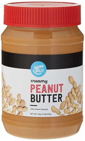ihocon: [Amazon自家品牌] Happy Belly Creamy Peanut Butter, 16 Ounce 花生醬