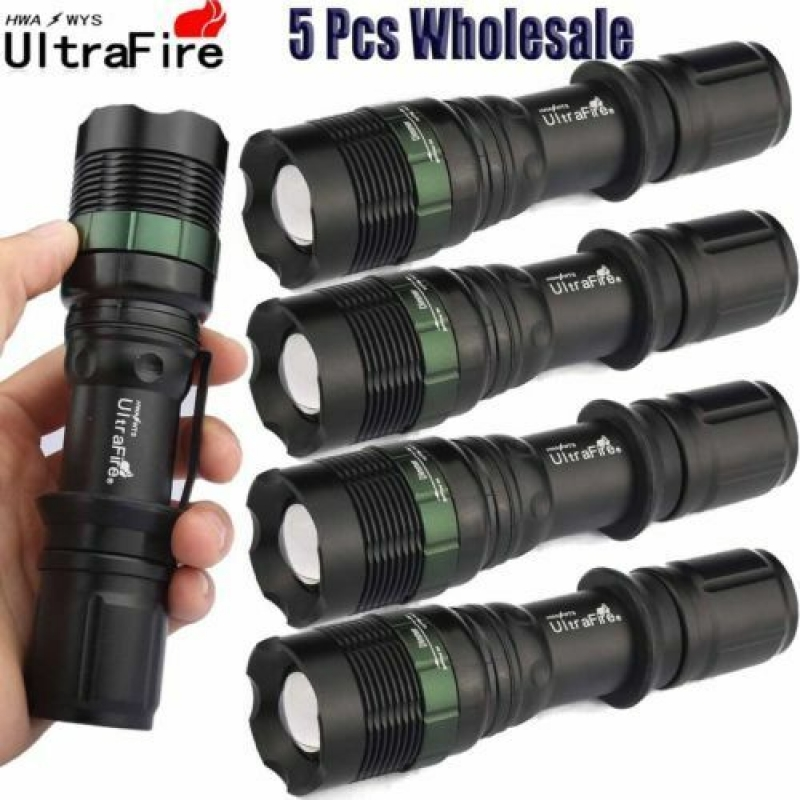 ihocon: Ultrafire Tactical 5PCS 50000LM Flashlight 手電筒5支