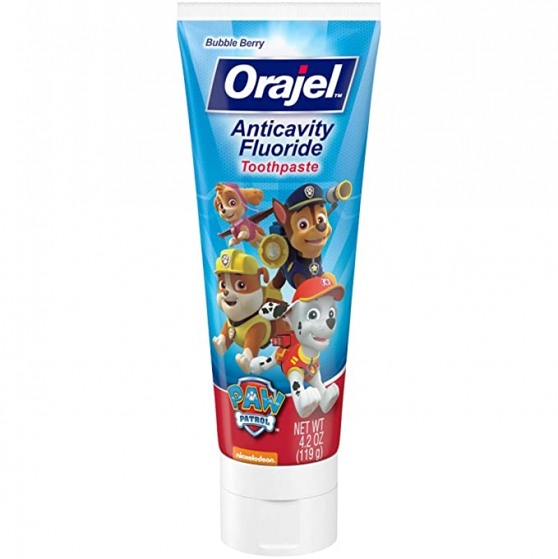 ihocon: Orajel PAW Patrol Anticavity Fluoride Toothpaste, Bubble Berry, 4.2 oz.兒童防蛀齒含氟牙膏
