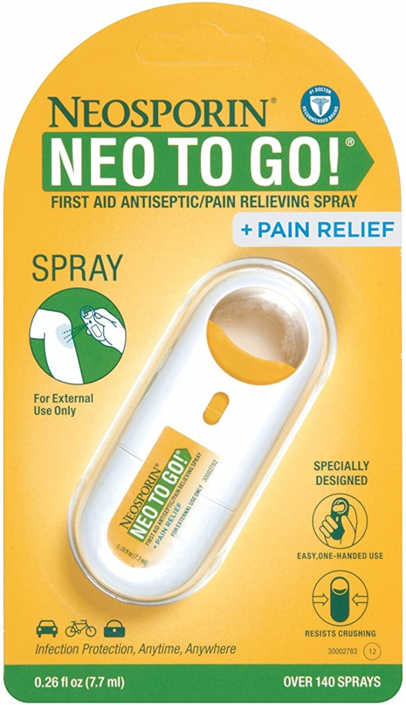 ihocon: Neosporin + Pain Relief Neo to Go! First Aid Antiseptic/Pain Relieving Spray.26 Oz  便攜傷口殺菌/止痛噴霧