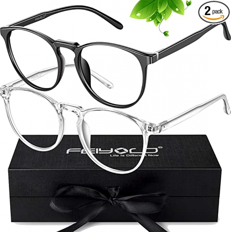 ihocon: [男, 女均適用] FEIYOLD Blue Light Blocking Glasses (2Pack) 抗藍光眼鏡