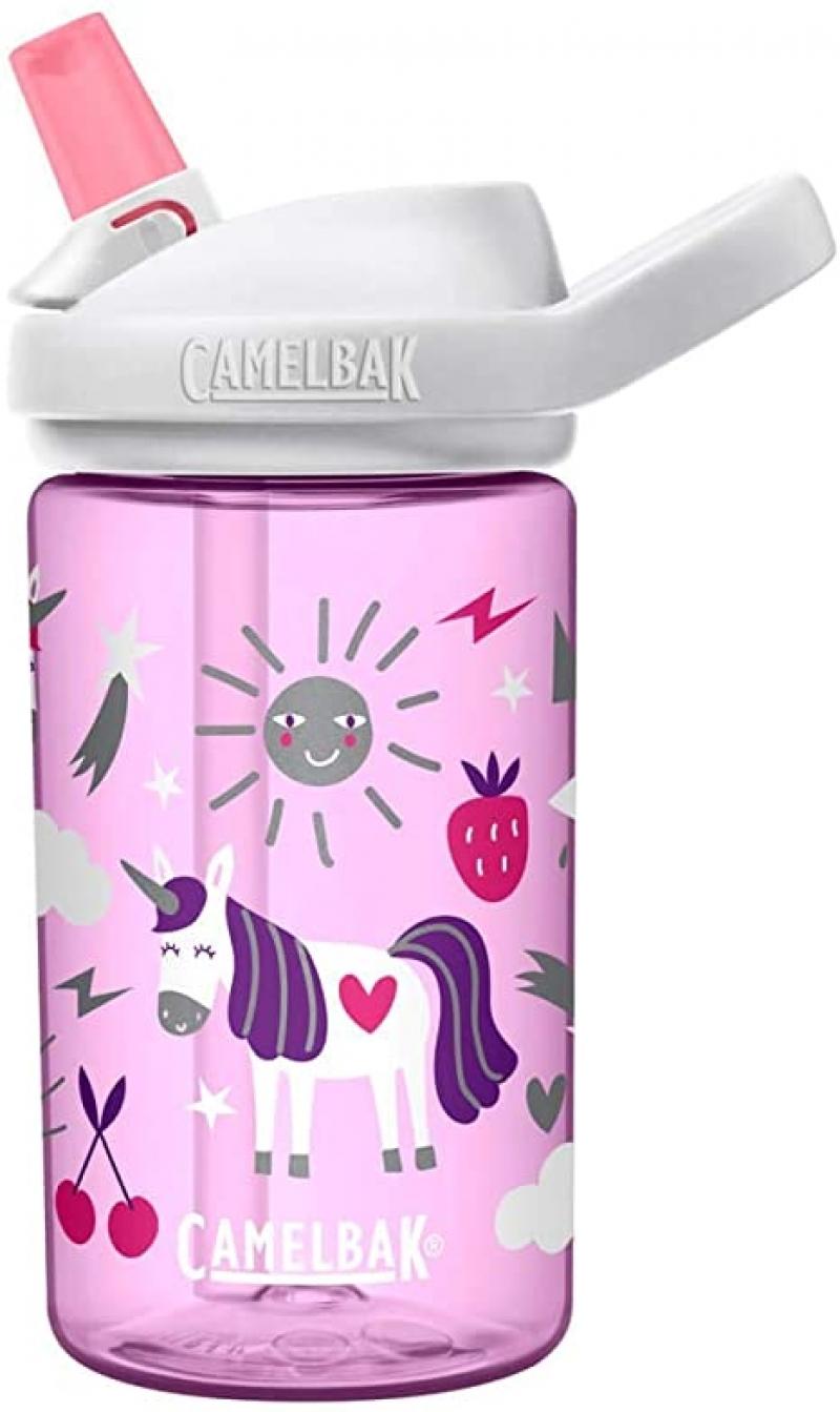 ihocon: CamelBak Eddy+ Kids BPA-Free Water Bottle with Straw, 14oz 兒童吸管水瓶
