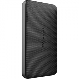 ihocon: RAVPower 5000mAh Power Bank with Built-In Lightning Cable Offline (Black)行動電源/充電寶
