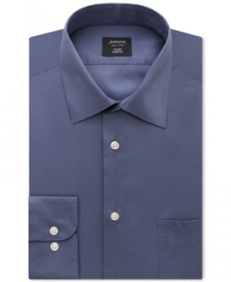 ihocon: Arrow Men's Fitted Non-Iron Performance Stretch Solid Dress Shirt 男士免燙襯衫 - 多色可選