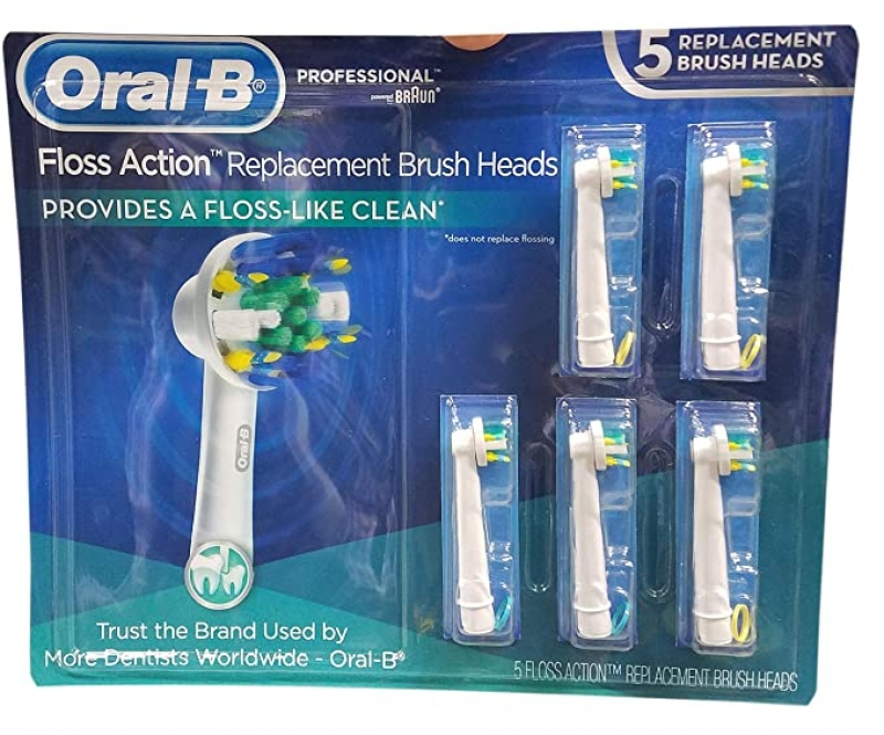 ihocon: Oral B Floss Action Replacement Brush Heads, 5 Count 電動牙刷替換刷頭