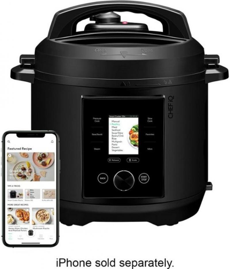ihocon: CHEF iQ 6qt Multi-Function Smart Pressure Cooker W/ Built-in Scale & Auto Steam Release 智能多功能電壓力鍋