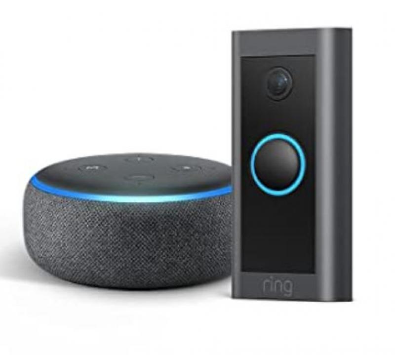 ihocon: Ring Video Doorbell Wired bundle with Echo Dot (Gen 3) 智能門鈴
