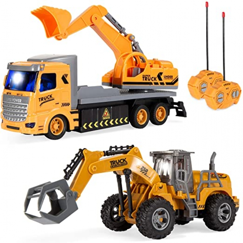 ihocon: Best Choice Products 2-Pack Remote Control Excavator Digger Truck遙控工程車 2台