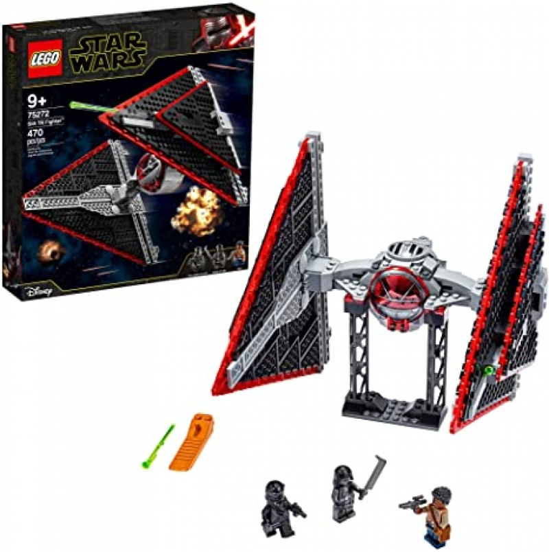 ihocon: 樂高星球大戰LEGO Star Wars Sith TIE Fighter 75272 Collectible Building Kit, New 2020 (470 Pieces)