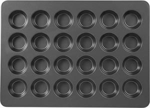 ihocon: Wilton Perfect Results Premium Non-Stick Mega Standard-Size Muffin and Cupcake Baking Pan, Standard 24-Cup 不粘Muffin烤盤