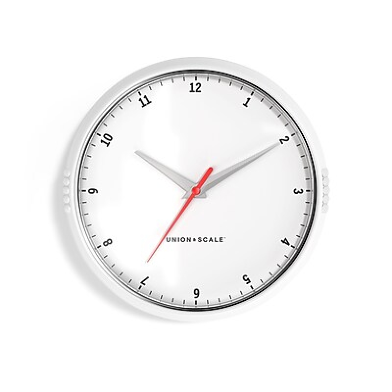ihocon: Union & Scale™ Essentials Wall Clock, Plastic, 9.5 壁鐘