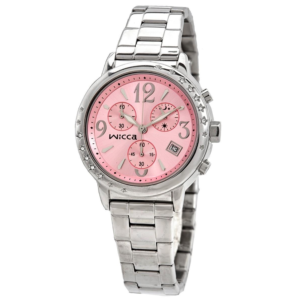 ihocon: Citizen Wicca Quartz Pink Dial Ladies Watch女錶