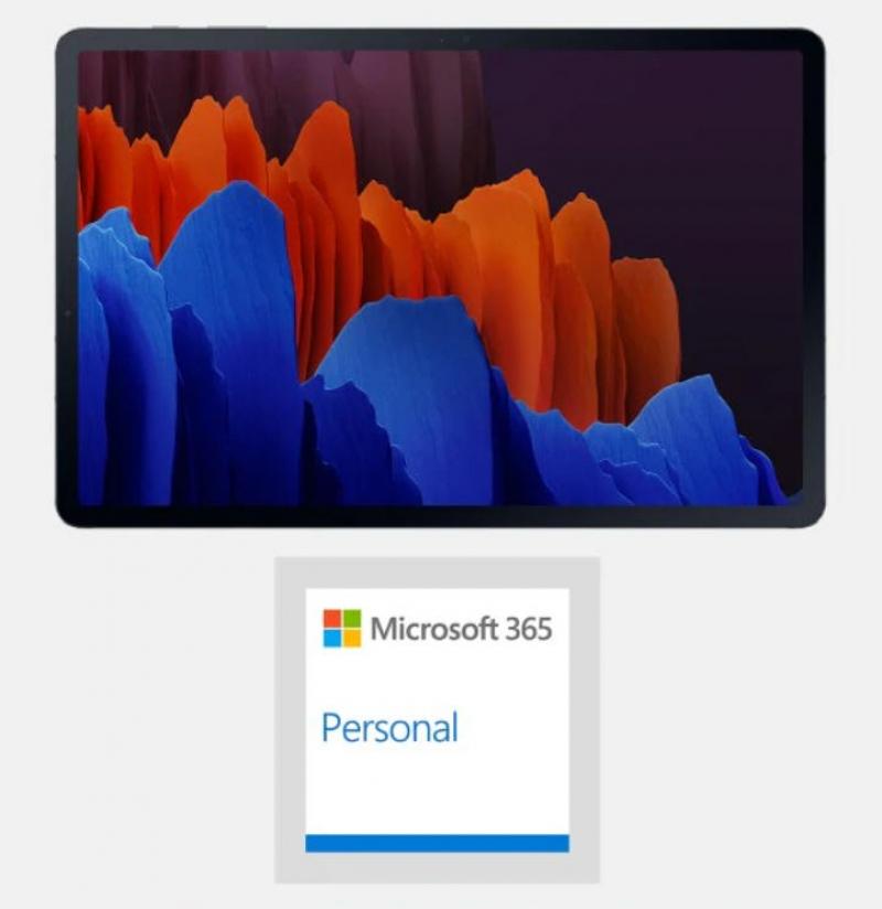 ihocon: Samsung Galaxy Tab S7+ Plus 12.4吋 128GB Wi-Fi Android Tablet + Microsoft 365 Personal (15個月Subscription)