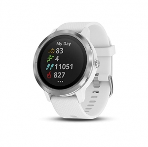 ihocon: Garmin vivoactive 3 GPS Smartwatch with Contactless Payments and Built-in Sports Apps (White/Silver) 智能錶