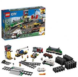 ihocon: [樂高城市系列] LEGO City Cargo Train 60198 Remote Control Train Building Set with Tracks for Kids(1226 Pieces)