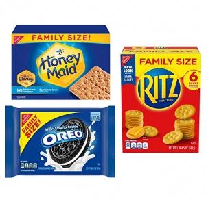 ihocon: OREO, RITZ, & Honey Maid Snack Variety Pack, Family Size - 3 Packs餅乾