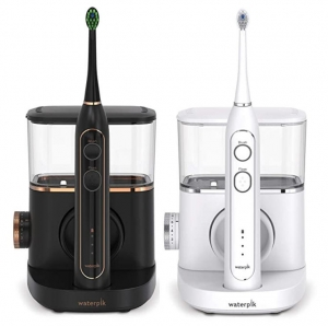 ihocon: Waterpik Sonic-Fusion Professional Flossing Toothbrush, Electric Toothbrush & Water Flosser Combo in One, SF-02 Black 2合1 電動牙刷/沖牙機 - 2色可選