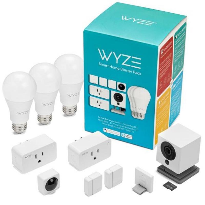 ihocon: Wyze Smart Home Starter Bundle Includes Camera, Contact Sensor (2), Motion Sensor, Bulb (3), Plug (2), SD Card 智能家居入門套裝