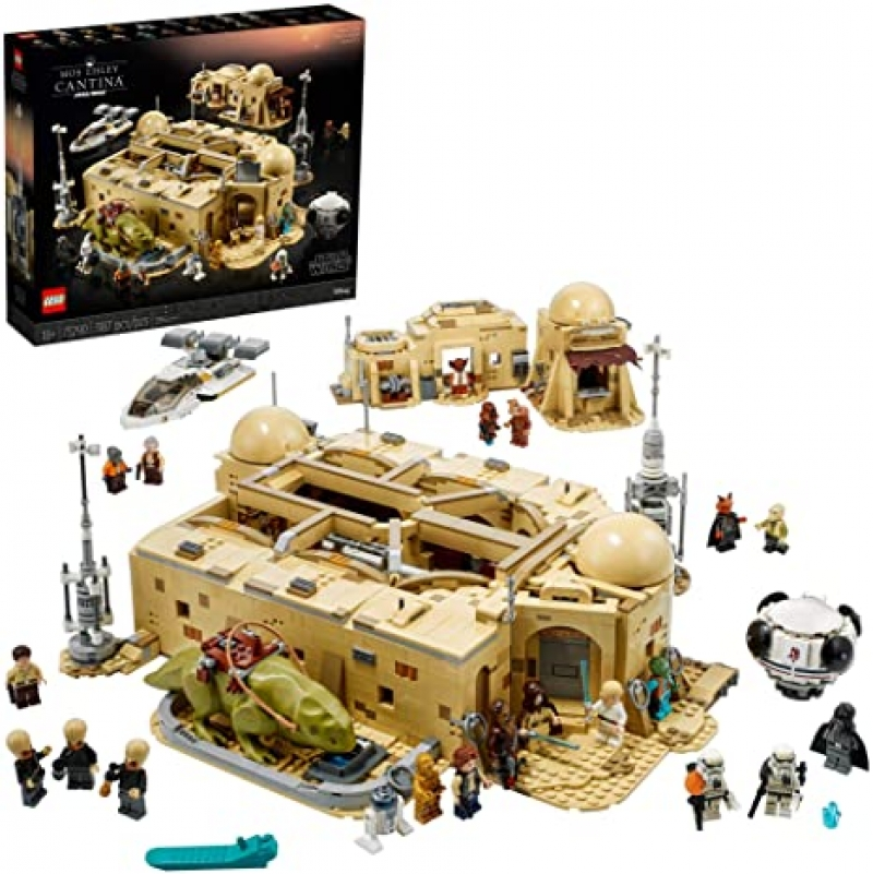 ihocon: [2021新款] LEGO Star Wars: A New Hope Mos Eisley Cantina 75290 Building Kit, New 2021 (3,187 Pieces)
