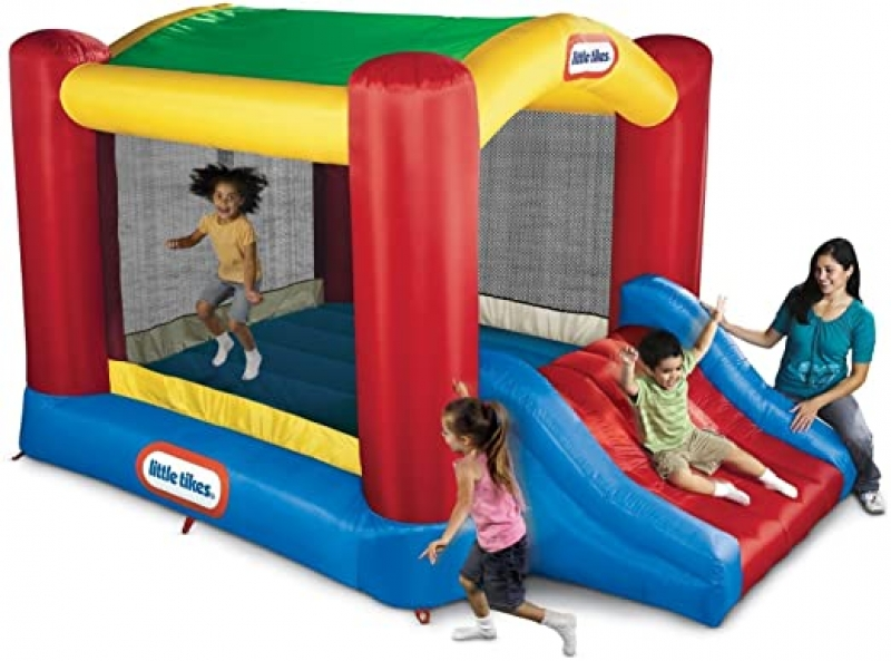 ihocon: Little Tikes Shady Jump n Slide Bouncer 充氣彈跳屋