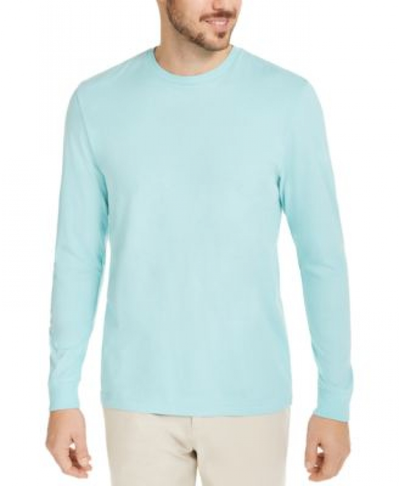 ihocon: Club Room Men's Long Sleeve T-Shirt, Created for Macy's  男士純棉長袖衫-多色可選