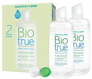 ihocon: BAUSCH + LOMB Biotrue Contact Lens Solution for Soft Contact Lenses, Multi-Purpose, 10 oz, (2 Count) 隱形眼鏡藥水 2瓶