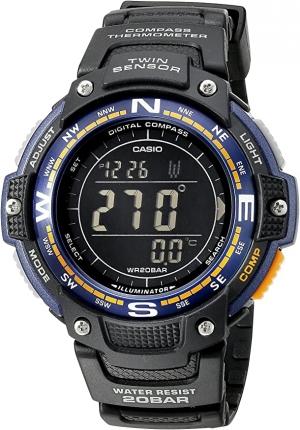 ihocon: Casio Men's SGW-100-2BCF Twin Sensor Digital Display Quartz Black Watch 卡西歐男錶