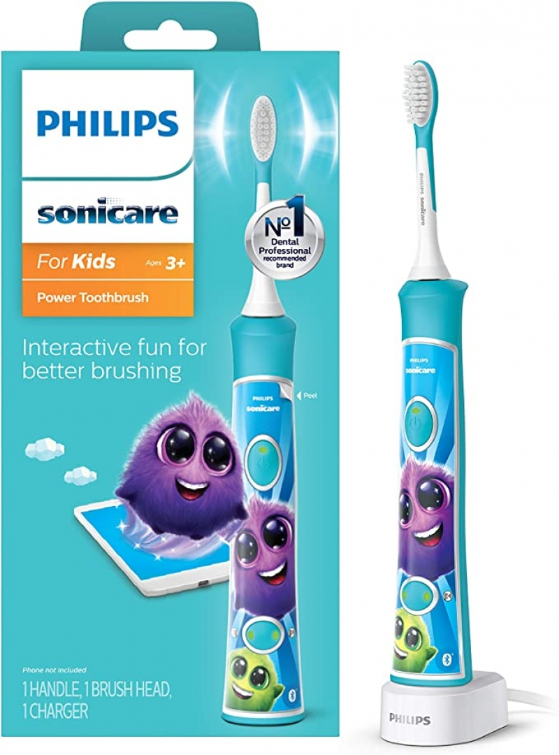 ihocon: Philips Sonicare HX6321/02 Sonicare for Kids Rechargeable Electric Toothbrush飛利浦兒童電動牙刷