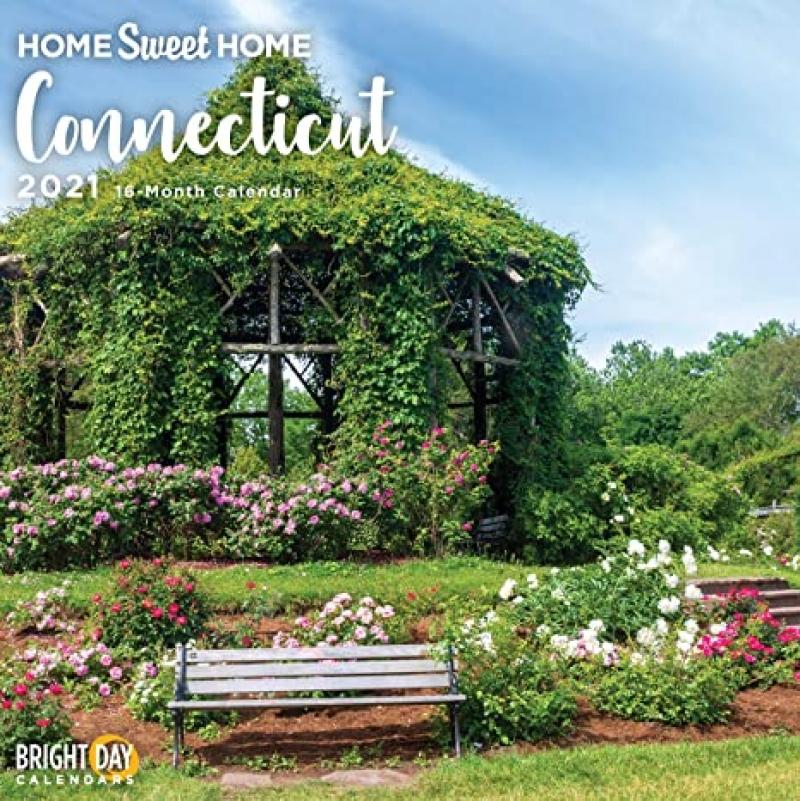 ihocon: 2021 Home Sweet Home Connecticut Wall Calendar 月曆