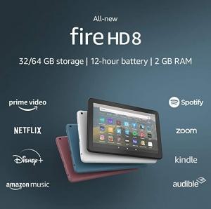 [新低價! Amazon今日特價] 第十代Amazon Fire HD 8 Plus 平板電腦, 32GB  $59.99免運(原價$89.99)