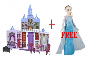 ihocon: Frozen 2 Fold and Go Arendelle Castle and FREE Frozen Classic Elsa or Anna Doll