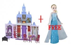 買 Frozen 2 Fold and Go Arendelle Castle冰雪奇緣城堡送Elsa 或是 Anna娃娃