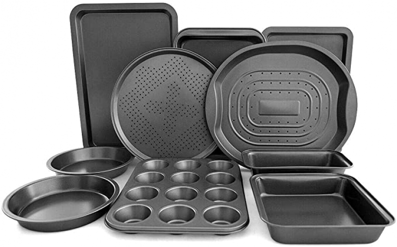 ihocon: Giantex 10-Piece Nonstick Bakeware Set不沾烤盤組