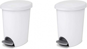 ihocon: Sterilite 2.6 Gallon/9.8 Liter Ultra StepOn Wastebasket, 2-Pack 腳踏式垃圾筒