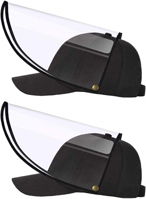 ihocon: XIAOWU 2 Pack Men's Baseball Cap 可折防護面罩棒球帽