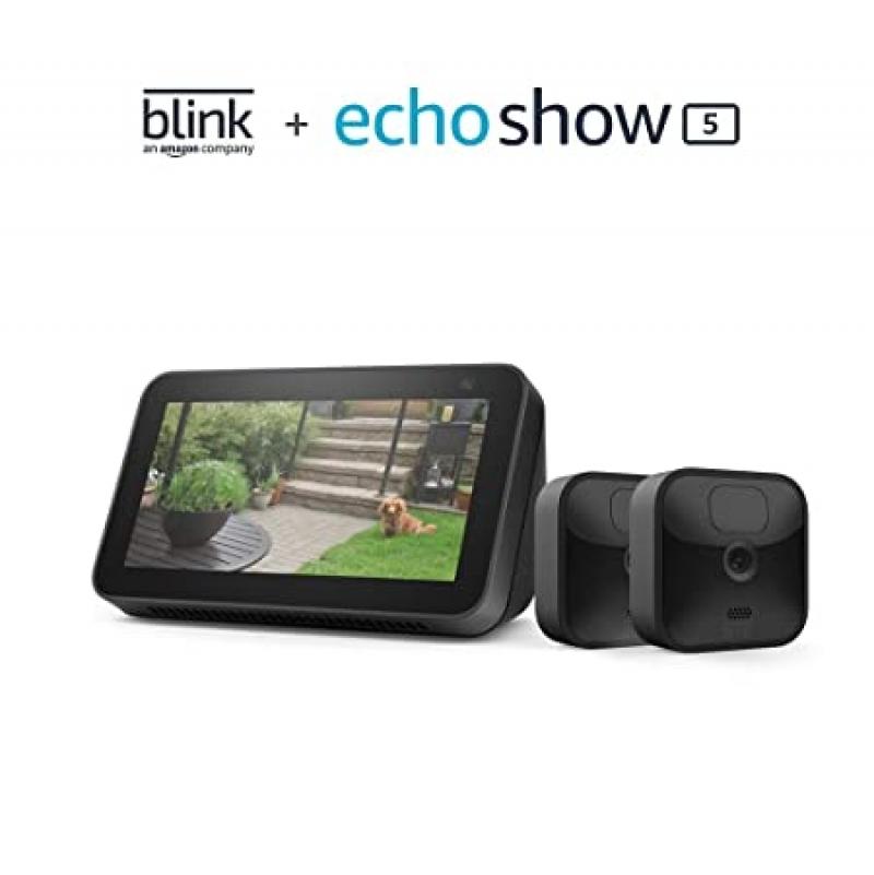 ihocon: Blink Outdoor 2 Cam Kit bundle with Echo Show 5 (2nd Gen)