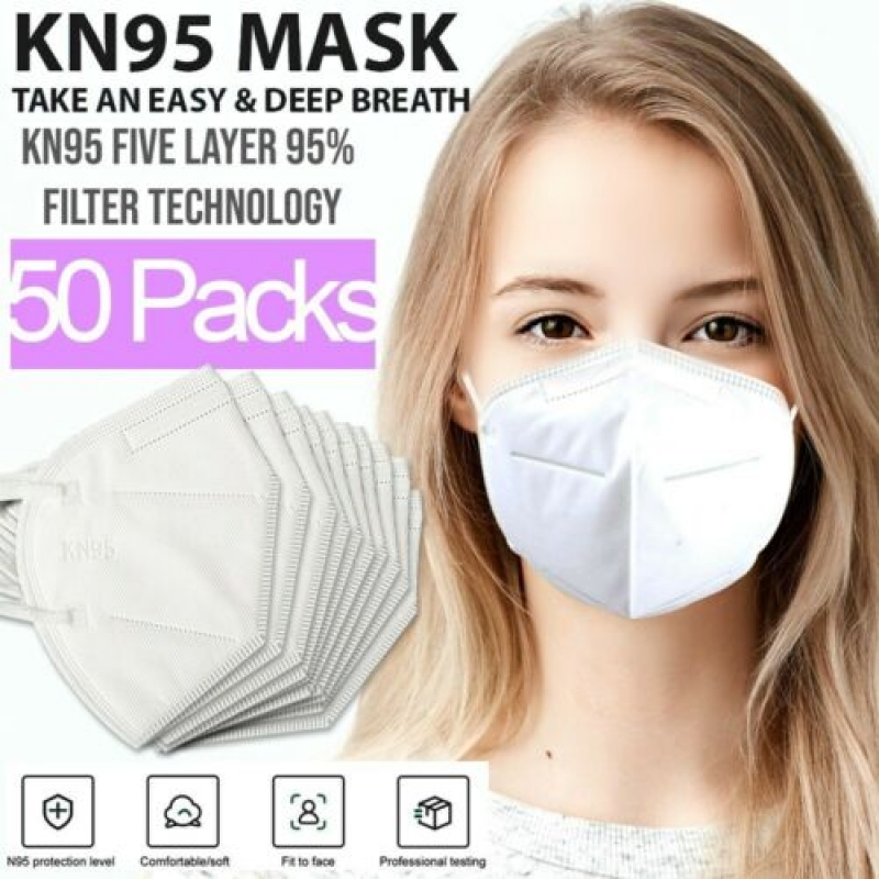 ihocon: Nanoflo KN95 Protective 5 Layers Face Mask [50 PACK] 五層口罩