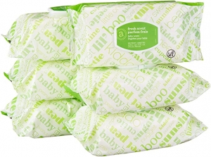 ihocon: [Amazon自家品牌]Elements Baby Wipes, Fresh Scent, 480 Count, Flip-Top Packs 嬰兒濕巾
