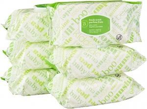 [Amazon自家品牌] Elements 嬰兒濕巾6包 共480張 $12.49