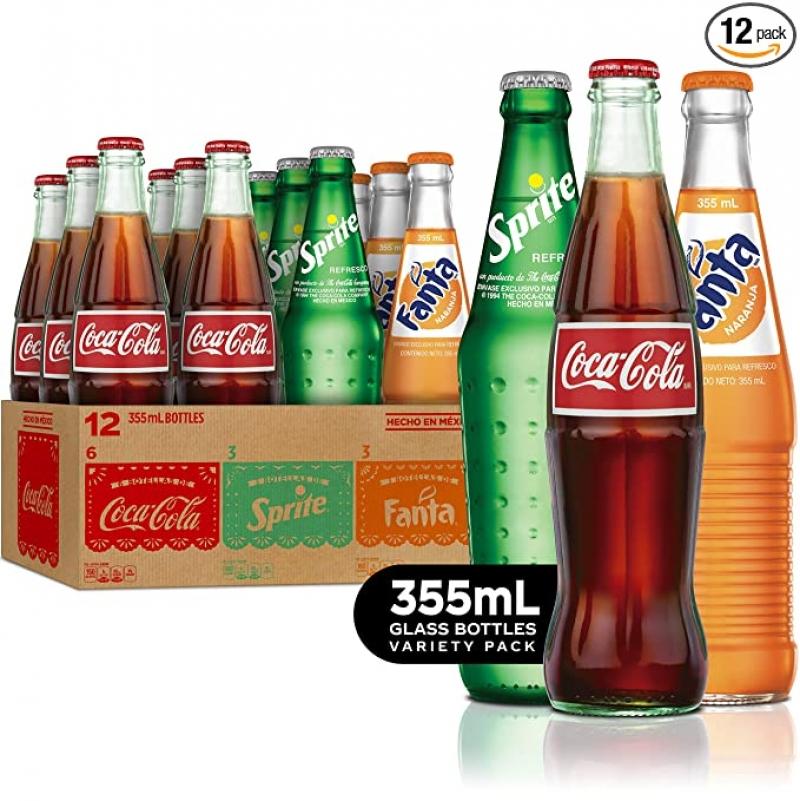 Coca-Cola  可口可樂, Sprite 及Fanta orange 共12瓶 $18